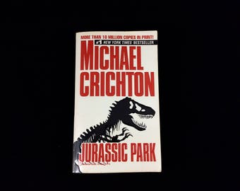 Jurassic Park by Michael Crichton - Vintage Paperback Book