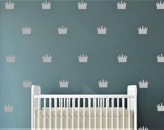 Crown Wall Decal - Kids Wall Stickers - Nursery Decor Wall Pattern | PP128
