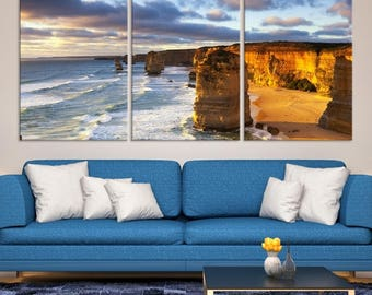 Large 3 Panels Nature Wall Art Canvas Print - Spectacular Sea Stacks Wall Art, Canvas Art Print, Art Collectibles, Home&Office Decoration