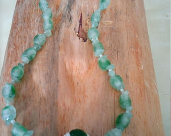 Zeekralen or African recycle beads with aventurine chips beads and small glass beads.