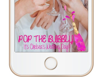 Wedding Snap Chat! Pop the Bubbly!