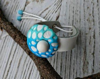 White Bracelet Geometric Bracelet Polymer Clay Jewelry Blue Bracelet Space Jewelry Space Bracelet Festival Jewelry Modern Jewelry Gift