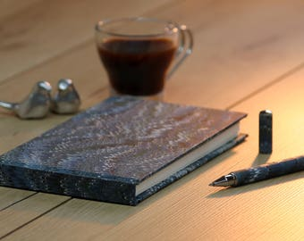 Beautiful hand made notebook with matching pen
