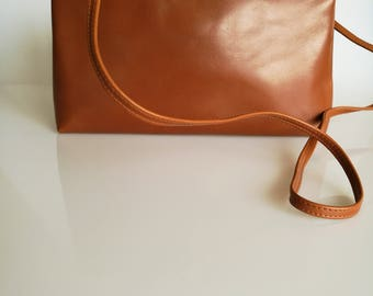 SALVATORE FERRAGAMO Vintage Tan / Brown Shoulder / Crossbody Bag / Clutch