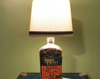 Boone County 1833 Bourbon bottle Lamp