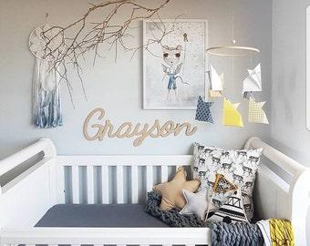 Origami Fox Hoop Mobile, Bamboo, Fox, Nursery Mobile, Animal, Woodland, New Baby, New Mum, Baby Gift, Baby Shower Gift, Baby Boy, Baby Girl