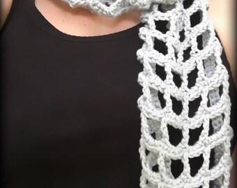 Summer Scarf Crochet Pattern/ Scarf Crochet/ Infinity Scarf/ Summer Scarf/ Summer Scarves/ Scarves Crochet Pattern/ Cowl Scarf/ Cowl Pattern