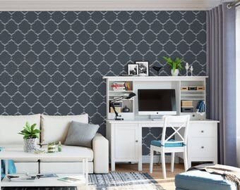Moroccan Outline Stencil - Reusable DIY Wall Stencils of a Moroccan Outline Pattern