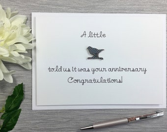 Anniversary Card Funny - Happy Anniversary Card - Anniversary Card Cute - Wedding Anniversary Card - Bird Card - Anniversary Card For Couple