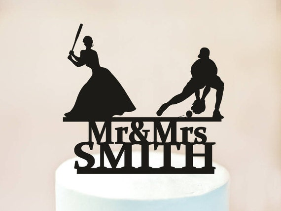 Baseball Wedding Cake Topper TopperMr And Mrs