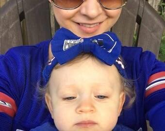 NY Giants Headband NY Giants Bow Baby Headbands Baby Girl Headband Baby Headband Hair Bows Bow Headband Newborn Headbands Toddler Headband