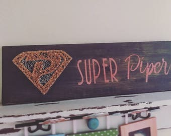 "Hand Painted Personalized ""Super Hero"" Art"