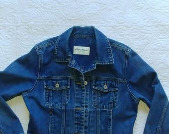 Eddie Bauer 100% Cotton Denim Jacket - Small/Medium