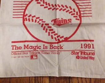 1991 Minnesota Twins Homer Hanky