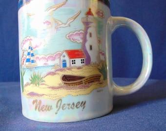 New Jersey Mug, State of New Jersey Mug , New Jersey Lighthouse , Lighthouse Mug