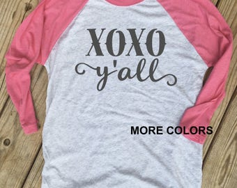 XOXO Y'all - Valentine Raglan