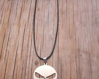 Punisher silver necklace, steel