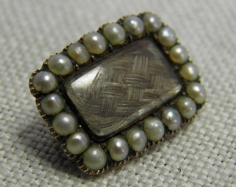 Victorian Mourning Brooch 9ct
