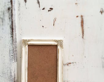 Set of 20, 5x7 Ornate Picture Frame, Wedding Table Number Frames,  French Country, Shabby Chic, Antique White, Gold Distressed, Baroque