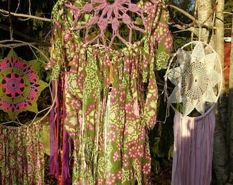 Purple and green flower dreamcatcher