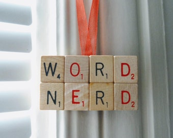 WORD NERD SCRABBLE magnet read book library linguist introvert gift words with friends