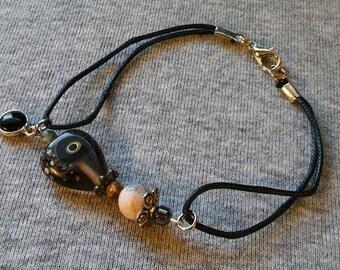 Lampwork accent bracelet