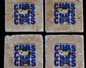 Chicago Cubs Snoopy Coasters