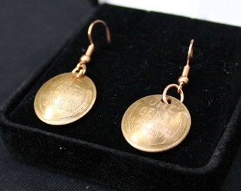 Wheat Penny Earrings Handmade (Birthday, Anniversary, Special Occasion, Gift, Mother's Day)