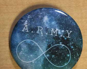 BTS ARMY-KPop- Custom Button-Pinback 2.25 inch-New