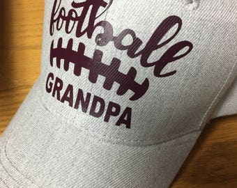 Football Grandpa Hat-Custom Colors-Custom Color Lettering-New