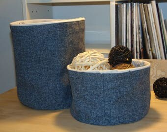 grey/blue Interior and upholstery fabric baskets cotton