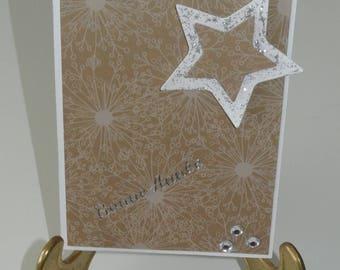 Greeting card - happy new year - stars
