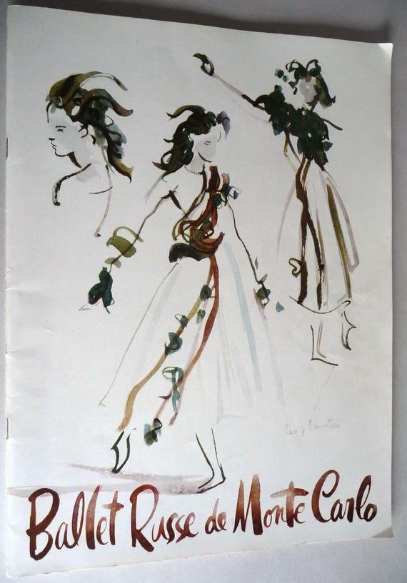Ballet Russe de Monte Carlo Souvenir Program 1950-1951 Portland Performance Coppelia - Grand Pas Classique - Prince Igor