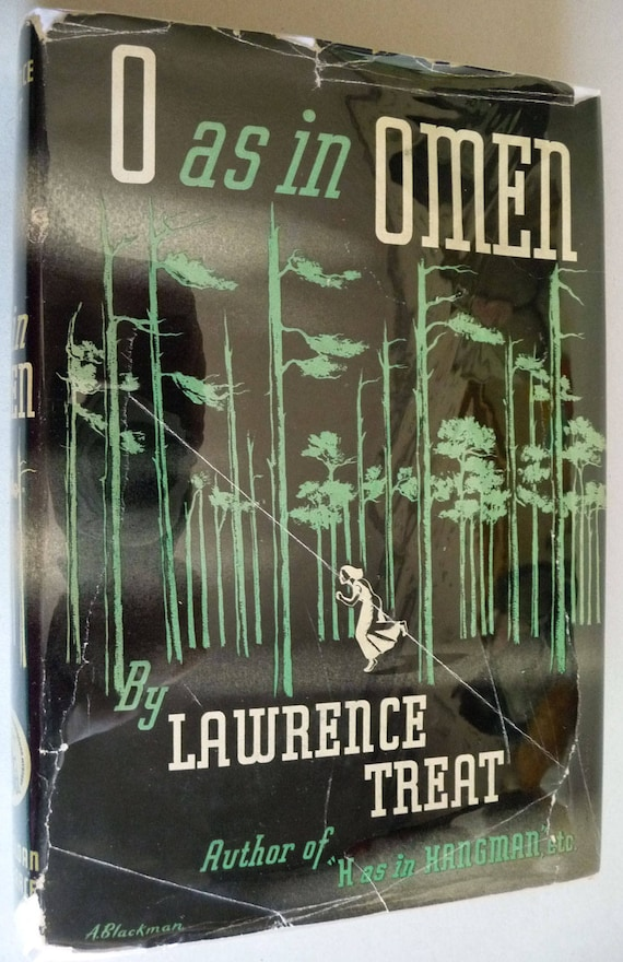 O as in Omen 1943 by Lawrence Treat - 1st Edition Hardcover HC w/ Dust Jacket DJ - Mystery Detective Fiction
