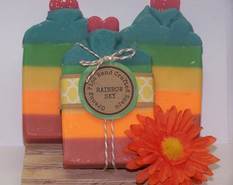 Rainbow Sky hand crafted soap/Valentines day child/Valentines day gift for wife