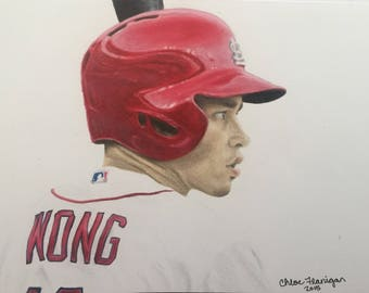 ORIGINAL - Kolten Wong Drawing