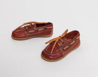 vintage 80s toddler boy loafers | Step & Stride deck shoes