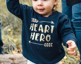 Heart Hero Heart Warrior Sweatshirt