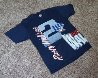 Vintage 1990s Rusty Wallace #2 Miller Lite NASCAR T Shirt