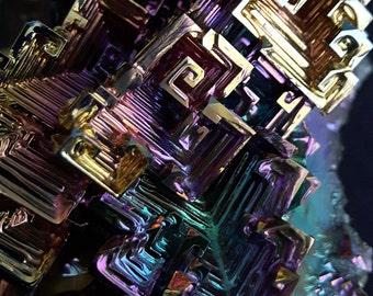 240 Gram Bismuth Crystal Cluster