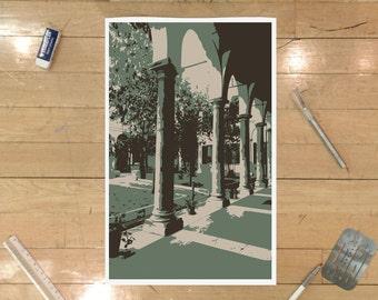 Roman Courtyard Poster