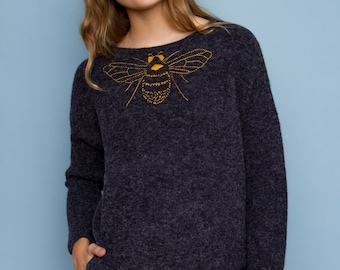 Family jewelry - embroidered sweater