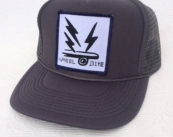 Wheel Bite Trucker Hat,with Square patch.