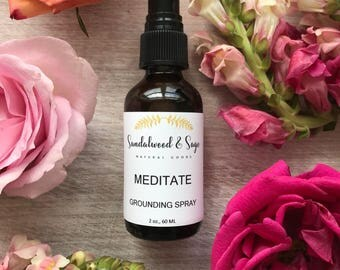 Meditation Grounding Spray // Natural Essential Oil Room Spray // Calming Room Spray // Grounding Spray // Yoga Spray // Meditation Spray
