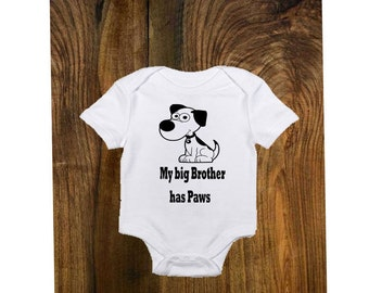 Baby Onesie,Boy,Siblings have Paws,dog,puppy,Canine bodysuit,infant Baby Clothing,clothes,Toddler clothing, Baby Shower gift,Paw friend
