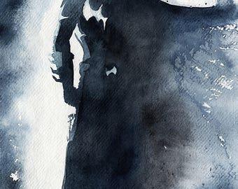 Batman Watercolour Print