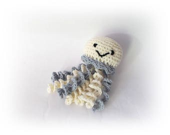 Crochet Octopus Champagne gray Toy Stuffed octopus knitted amigurumi wedding decoration Party decoration home decor Octopus jellyfish plushy
