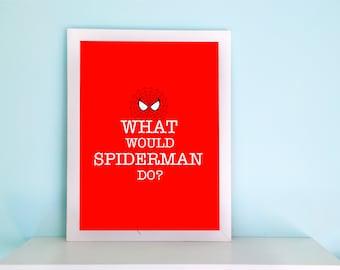 Spiderman Wall Art spiderman art print watercolor art superhero wall art