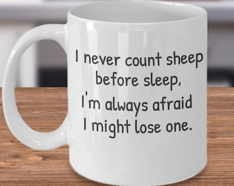 Sheep Lovers, Sheep Coffee Mug, Counting Sheep Gift, Love Sheep Cup, Gift for Sheep Lover, Unique Sheep Gift, Sheep Gift Idea, Sheep Tea Cup