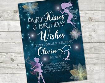 Fairy Birthday Invitation Fairy Invitation Magical Birthday Enchant Forest Birthday Fairy Birthday Girl Enchanted Fairy birthday invite